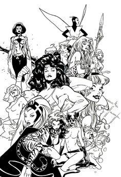 Marvel Women Comic Art    Olivier Coipel