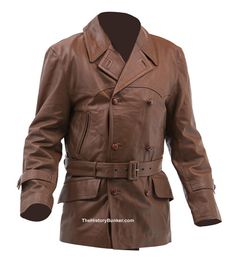 The History Bunker Ltd Brown Leather - Historical leather jackets, gloves and trousers - vintage leather jackets, indie leather coats, goth leather coats