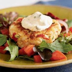 Crab Cakes with Remoulade | MyRecipes.com