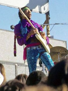 EAST Photo Of Jimi HENDRIX Performing Live Onstage Playing Guitar