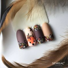 Most up-to-date Screen Fall Nail Art designs Tips Allow wonderful glitters some sort of fall-perfect bring up to date with the uber quite fall months Nail Design Spring, Fall Nail Art Designs, Nail Polish Designs, Acrylic Nail Designs, Cute Acrylic Nails, Cute Nails, Pretty Nails, Autumn Nails, Winter Nails