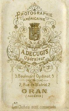 DECUGIS A. - Oran, Algérie