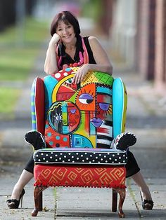 Trash To Treasure Yard Art | Chairs go from trash to treasure | Business News | Business and ...
