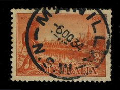 AUSTRALIA - 1934 - CDS OF MANILLA (NSW) ON 2d OR.-VERMILION SG147a (p.11 1/2)