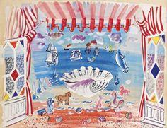 Raoul Dufy . Le decor pour le ballet Palm Beach