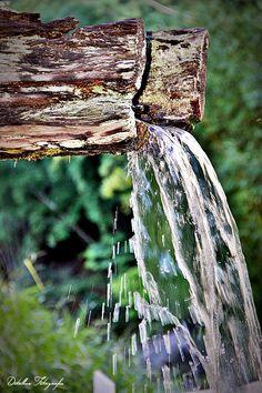 Água do alto da Serra, sem custo ou burocracia.