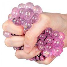 Glitrende stressball i nett!  Perfekt til barna. Heart Ring, Glitter, Lily, Heart Rings, Sequins, Glow