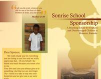 Sonrise School Sponsorship by Lauren Mabee, via Behance
