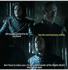 Dumbest decision ever...and when he is re-born/brought back from the dead, he can take his rightful place as Lord of Winterfell and start fucking shit up (hopefully...)