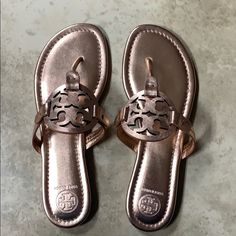 d6e05115e13 Shop Women s Tory Burch Gold Pink size 8 Sandals at a discounted price at  Poshmark. Description  Tory Burch Miller Sandal In rose gold.