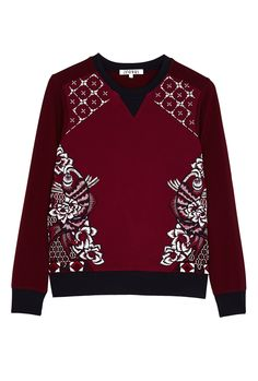 PRODUCT CODE: 844682 Neoprene Koi Sweat - Burgundy Beaded By Annha #AW14 #MYWtrends #Embellishment