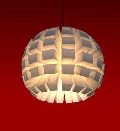 paper lightweight lampshade. $125.00, via Etsy. Meer op www.barbaratenbhomer.nl
