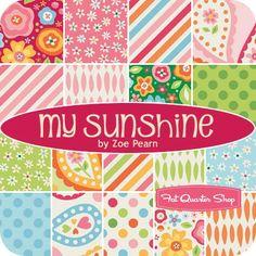 "My Sunshine 2.5"" Rolie PolieZoe Pearn for Riley Blake Designs - Jelly Rolls | Fat Quarter Shop"