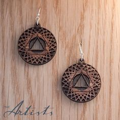 the_artists_design_studioInner Sanctum earrings. The Artists is an online design company, specializing in jewellery and 3D design, as well as the curation of beautiful design pieces and art. Visit our Facebook page www.facebook.com/theartists.co.za #theartistsdesign #theartistsstudio #theartistsjewellery #jewelry #designer #art #design #imagineersdesignerscreators #jewellery #natural #wood #geometry #spiritual 3d Design, Graphic Design, Jewelry Designer, Natural Wood, Geometry, The Creator, Spiritual, Artists, Jewellery
