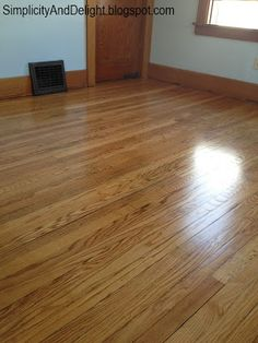 Simplicity and Delight: My thoughts on hardwood floor refinishing