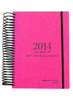 Keep a journal to help de-stress. Lorna Jane Move Nourish Believe diary ($40).