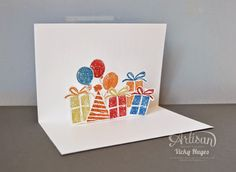 Birthday Surprise pop up card for a boy - Stampin' Up Artisan blog hop