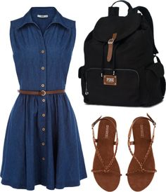 Day at School, created by taylorvickrey on Polyvore