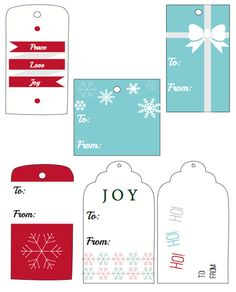 Printable Christmas Gift Tags #Christmas #Printable #Freebie