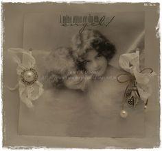 Gunns Papirpyssel, napkin, servietter, elektriske telys, vintage