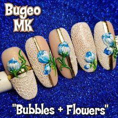 3d Nails, Acrylic Nails, Bubble Nails, Unicorn Nails, Nails Magazine, Manicure And Pedicure, Nails Inspiration, Pretty Nails, Nail Art Designs