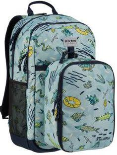 Kinderrucksack KD Lunch-N-Pack Gone Fishin Burton blau,bunte Fis 35l Backpack, Backpack Bags, Nylons, Burton Kids, Burton Snowboards, Gone Fishing, Finding A House, Vera Bradley Backpack, School Bags