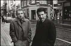 Francis Bacon and Lucian Freud in Dean Street, 1973 (Harry Diamond Photography)