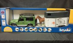 LAND ROVER DEFENDER STATION WAGON 1:16 SCALE MODEL WITH HORSE TRAILER 1 HORSE  US $55.00 New in Toys & Hobbies, Diecast & Toy Vehicles, Cars, Trucks & Vans http://www.landroverpalmbeach.com/