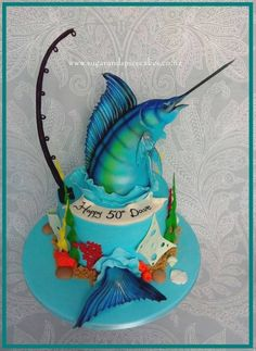 Blue Marlin Cake Another repeat design – this one sure is popular.