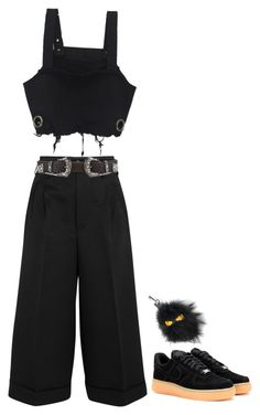 """""""whats going on"""" by m4r1n ❤ liked on Polyvore featuring Golden Goose, B-Low the Belt, Fendi and NIKE"""