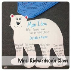 Main Idea anchor chart and blog post with a FREEBIE