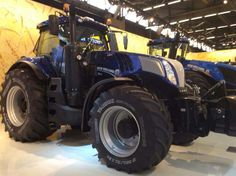 The new stage 4 tier4 new holland T8 series in blue power colours.