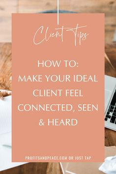 How to make your ideal client feel connected. seen Business Entrepreneur, Business Tips, Online Business, Web Design, Website Design, Personal Branding, Ecommerce, How To Make Money, How To Become