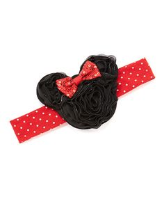 Look what I found on #zulily! Minnie Mouse Sparkle Rosette #zulilyfinds