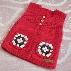 Baby Knitting Patterns, Baby Sweater Knitting Pattern, Knitting For Kids, Crochet Patterns, Diy Crochet, Crochet Baby, Double Crochet, Diy Crafts Knitting, Baby Booties Free Pattern