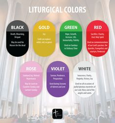 Liturgical Colors of the Catholic Church | Catholic Infographic