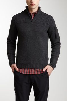 Massif Collection Legion 1/2 Zip Sweater