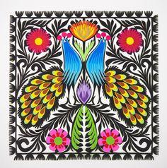 Polish Folk Art, 9 Square, Small Art, 7 And 7, Medium Art, One Pic, Poland, Paper Art, Layers