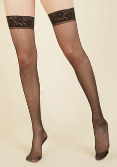 Seam to It Thigh Highs in Black