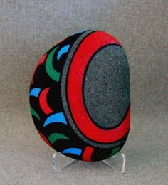 Unique 3D Art Object Painted Rock Bear Claw Motif by IshiGallery