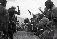 """1937: The Italian rider Gino """"the Pious"""" Bartali led the tour Briefly in 1937 ..."""