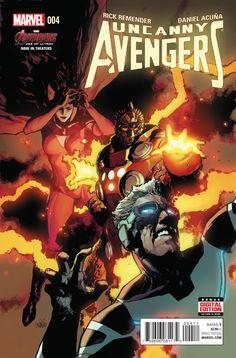 Uncanny Avengers # 4 Marvel Now ! Vol 2 ( 2015 ) Avengers 2015, Uncanny Avengers, New Avengers, Comic Book Characters, Comic Books Art, Comic Art, Book Art, Pin Up, Avengers