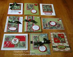 Joyfully Made Designs: Christmas One Sheet Wonder - lots of pretty cards from one decorative piece of paper