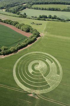 Crop Circle at Manton Drove, nr Marlborough, Wiltshire. Reported 2nd June 2012.