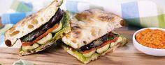 Mario Batali's Grilled Vegetable Focaccia Sandwich recipe #MeatlessMonday