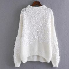 Autumn and Winter Women Sweater Warm Floral Embroidered Woman Sweater Pullovers Vestidos