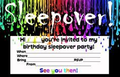 birthday invitations for 9 year old party - Google Search