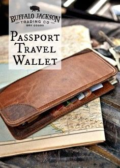 The Riverton Men's Leather Passport Travel Wallet: for adventure or business travel.