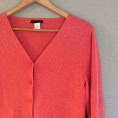 Coral peach cardigan Closet Rules: No Holds or Trades Same Day or Next Day Shipping All Items are in Gently Used Condition Unless Stated Otherwise Genesis Sweaters