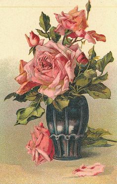 lovely bouquet of pink roses in black vase